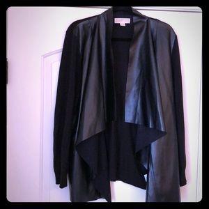 Michael Kors black leather sweater
